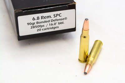 If you want to knock from afar with an AR-type rifle, check out the 6.8 Remington SPC cartridge.