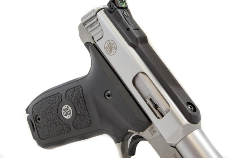 The receiver is fixed in position while the bolt is charged from the back.