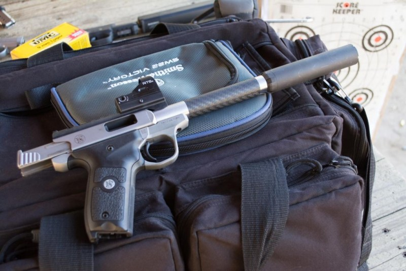 A sweet configuration. The lighter carbon fiber barrel helps offset the weight of the silencer.