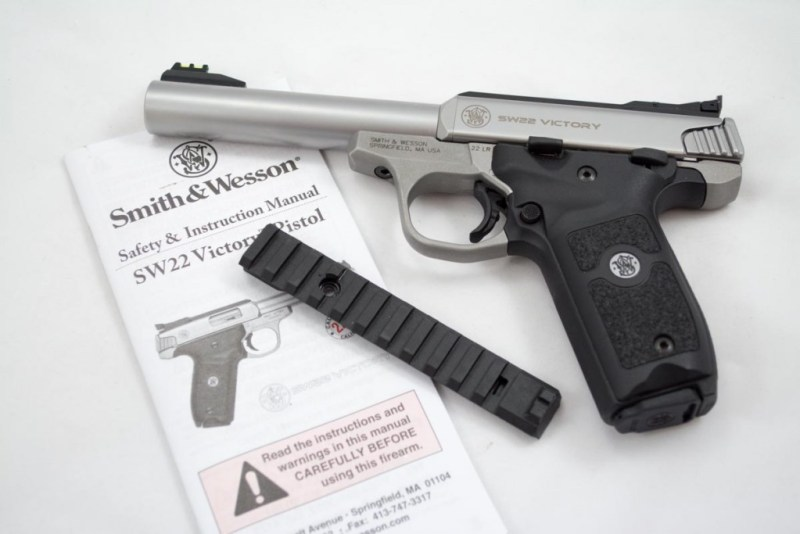 The Victory comes with a polymer rail so you can replace the adjustable rear sight base.