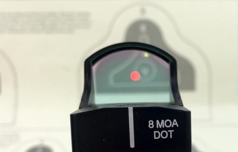 A simple dot reticle like this one on the Burris FastFire 3 is great for pistol or rifle use inside a hundred yards or so.