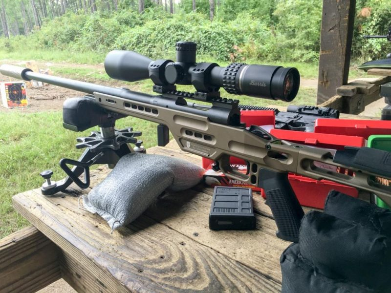 I did most of my shooting using the Thunder Beast Ultra 7 suppressor. Compact and light for a .30 caliber model, it did a great job of eliminating the blast.