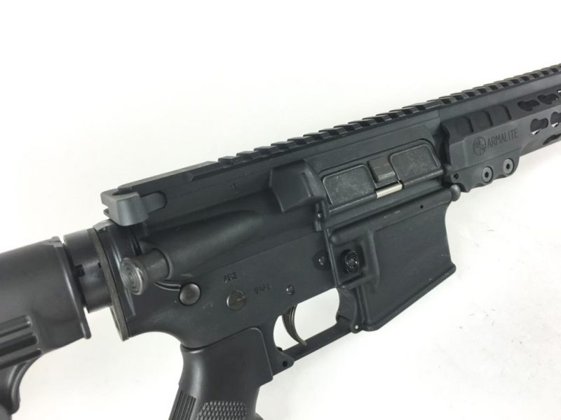 The M-15 has everything you'd expect on a service rifle , forward-assist included.
