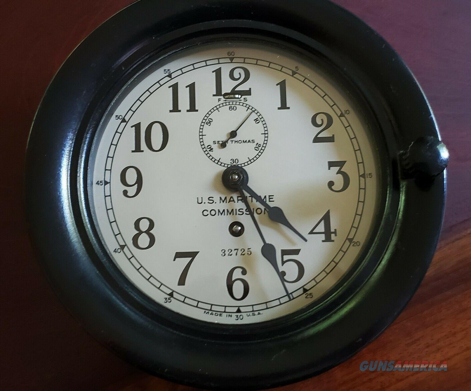 Seth Thomas Wwii U S Maritime Commission Clock For Sale