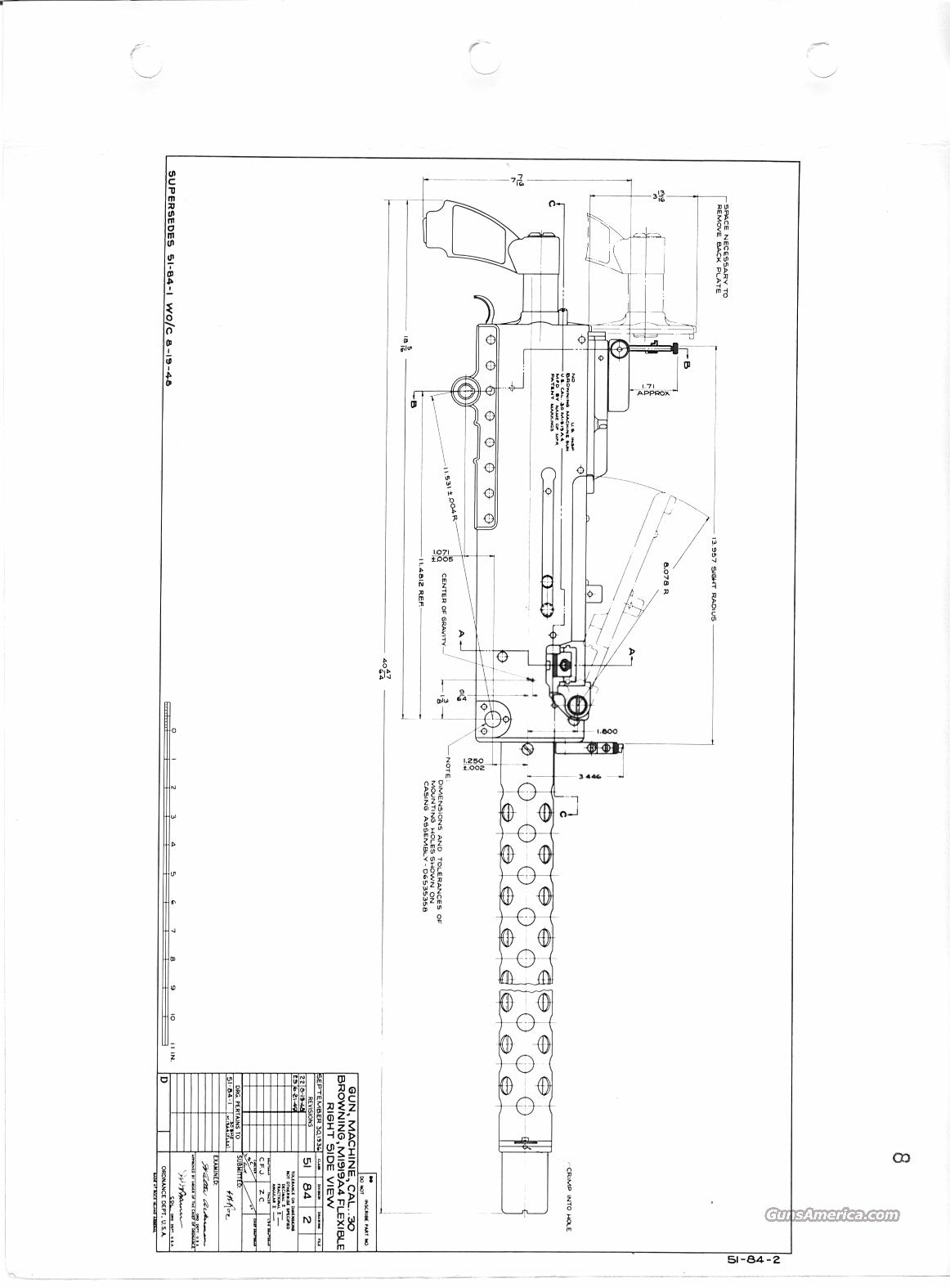 Browning M A4 Blueprints Bound Set A4 For Sale