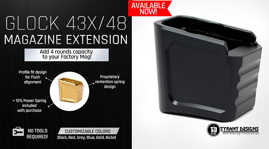 Tyrant-Designs-Glock43X-&-48-Magazine-Extension