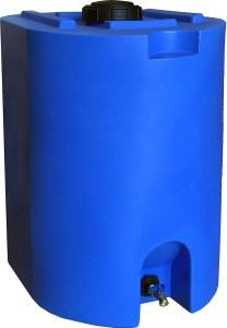 Blue 55 Gallon Water Storage Tank