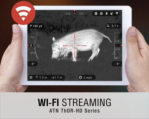 Smart Wi-Fi Share in The ATN Thor 640 Rifle Scope