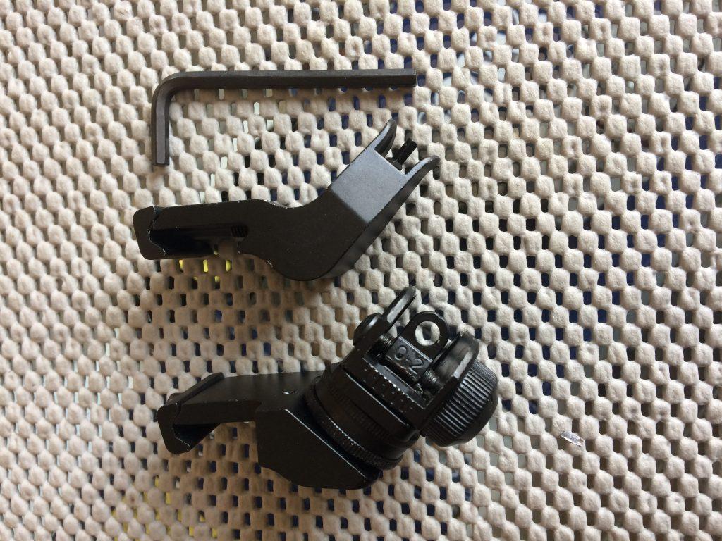 45 Degree Picatinny Rail Sights – AR Tactical Iron Sight