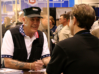 R Lee Ermey at SHOT Show