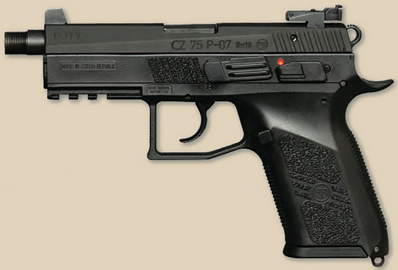 CZ P-07 Duty threaded barrel