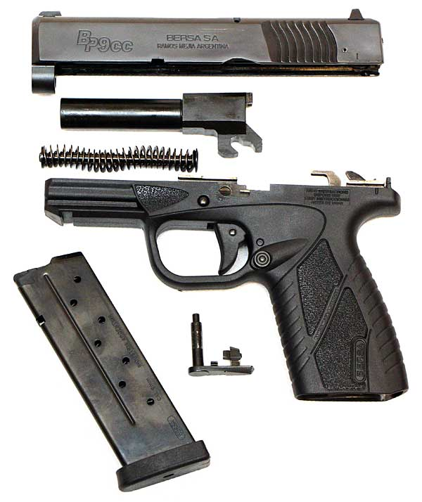 Bersa BP9CC field strip