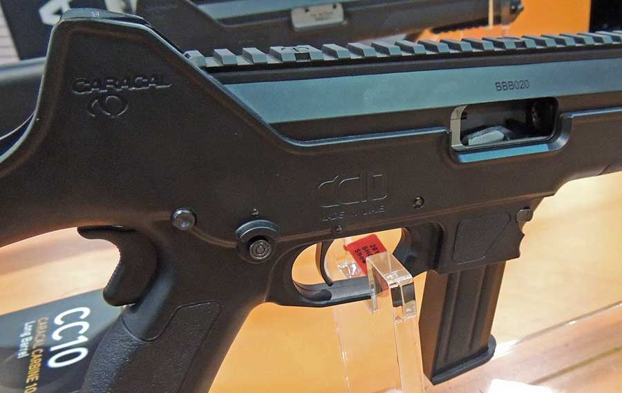 Caracal CC10 ejection