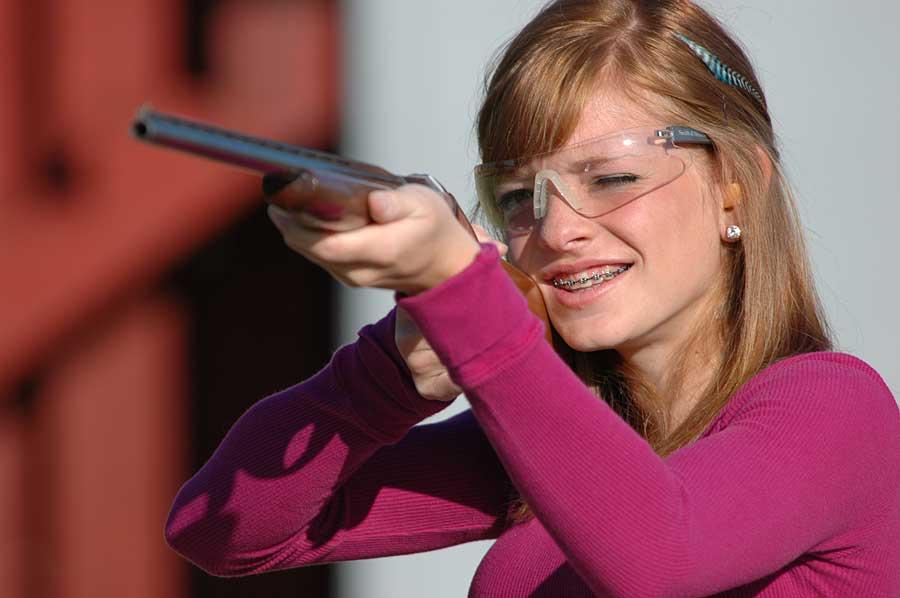 female teen shotgun