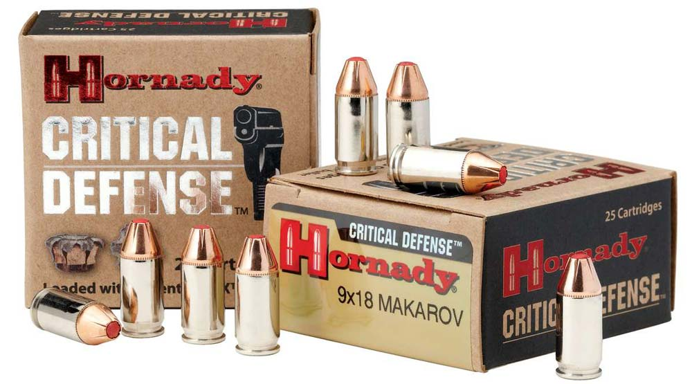 Hornady Critical Defense Ammo in 9x18 Makarov