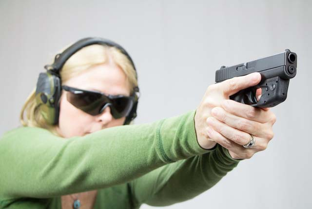 Shooting the G42 with a laser