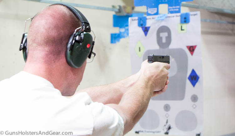 student training with Glock 9mm