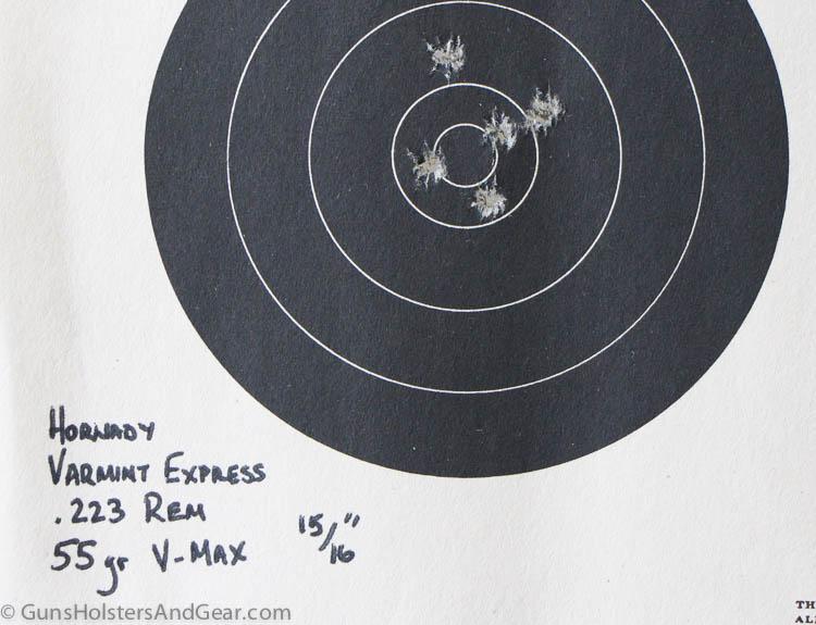 accuracy of Hornady ammo with Diamondback pistol
