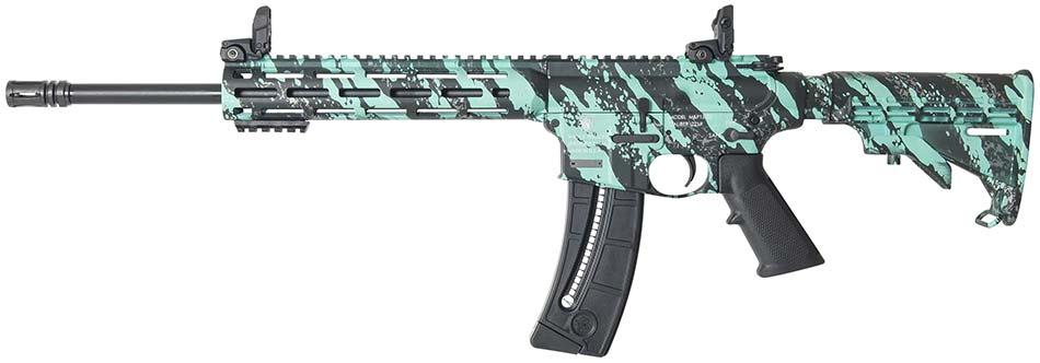 Smith & Wesson MP15-22 sport robin's egg blue platinum