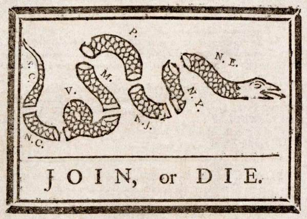 Join or Die Flag NRA
