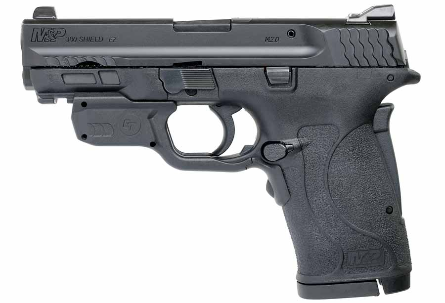 Smith and Wesson MP380 EZ with Green Laserguard