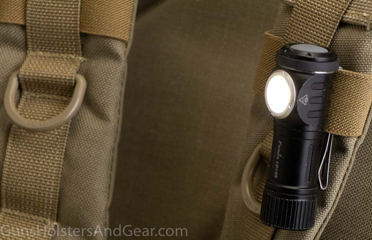 Fenix LD15R flashlight on MOLLE PALS