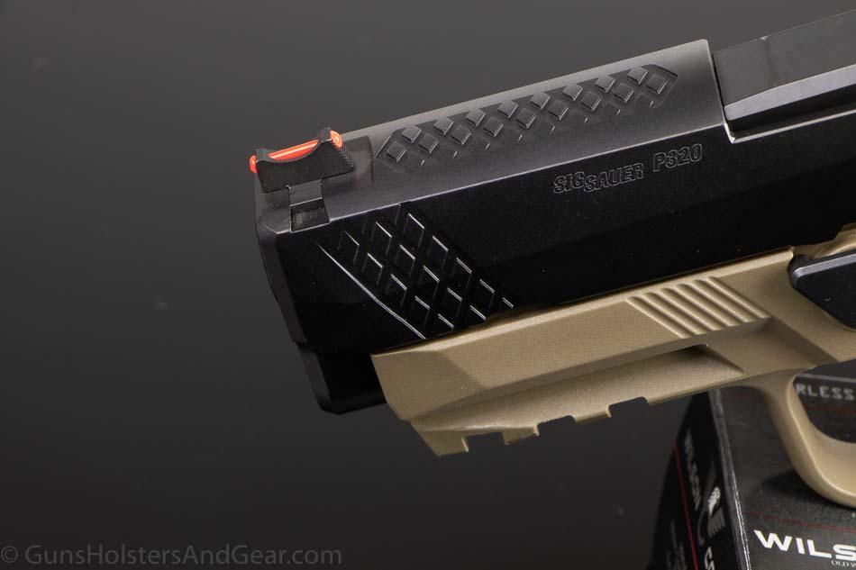 Fiber Optic Front Sight on Wilson Combat Striker-Fired Pistol