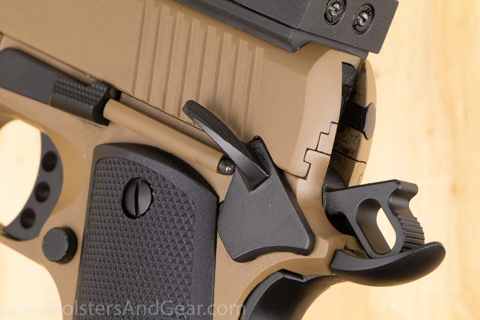 skeletonized hammer and beavertail grip safety