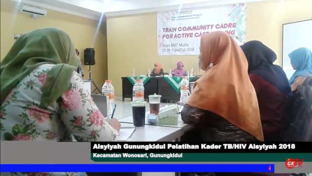 Aisyiyah Gunungkidul Adakan Pelatihan Kader TB/HIV Care Aisyiyah 2018