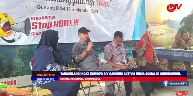 Narasumber di Acara Sarasehan Aktifisi Media Sosial Gunungkidul