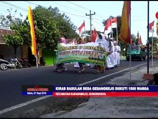 Kirab Rasulan Desa Gedangrejo Karangmojo 2018 Diikuti Oleh 1500 Warga