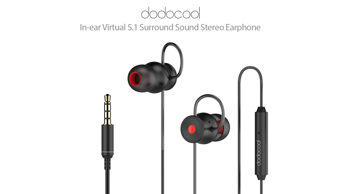 Dodocool In Ear Virtual 5 1 Surround Sound Stereo Earphone