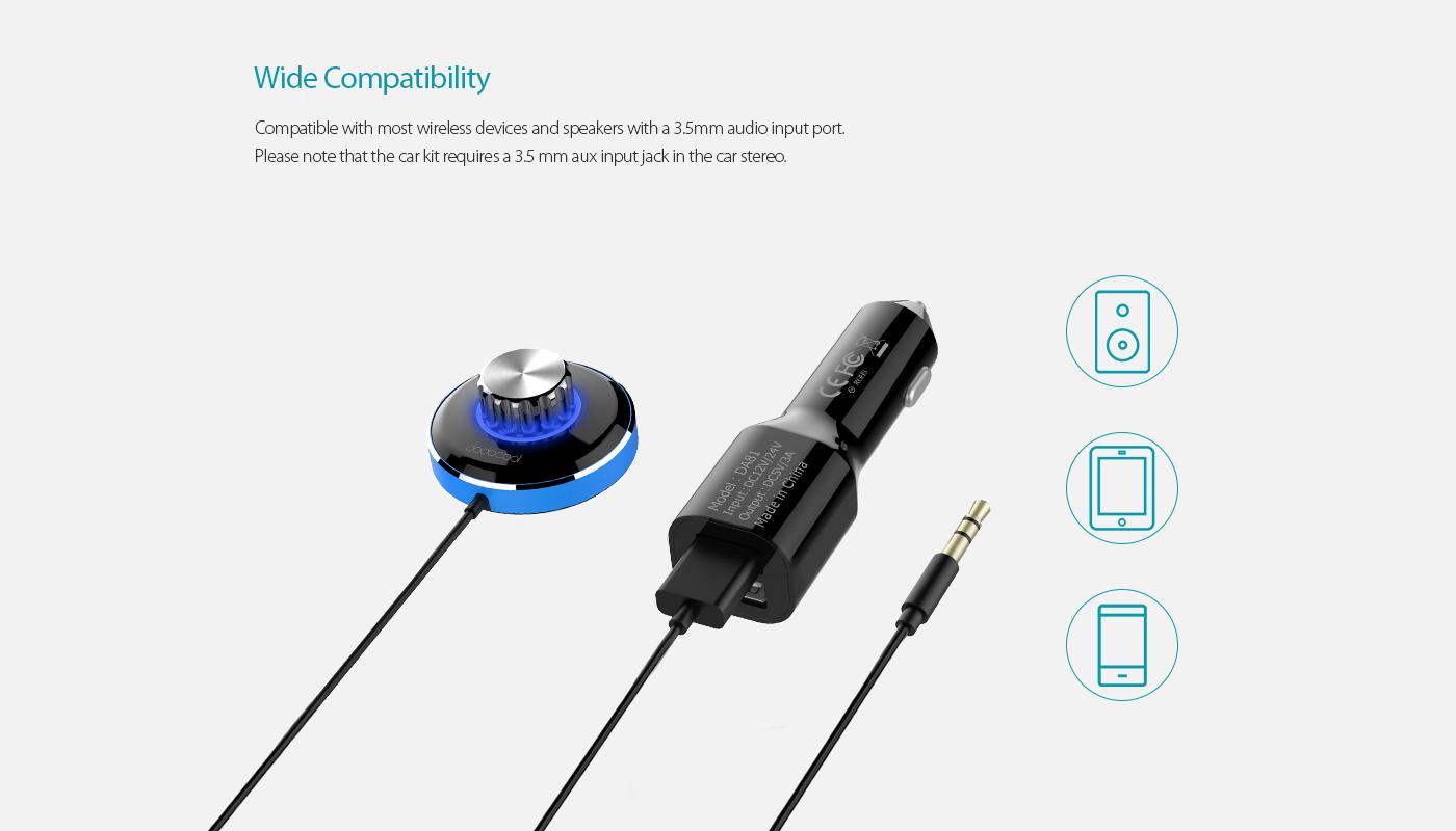 Dodocool Wireless Hands Free Audio Receiver Support Siri