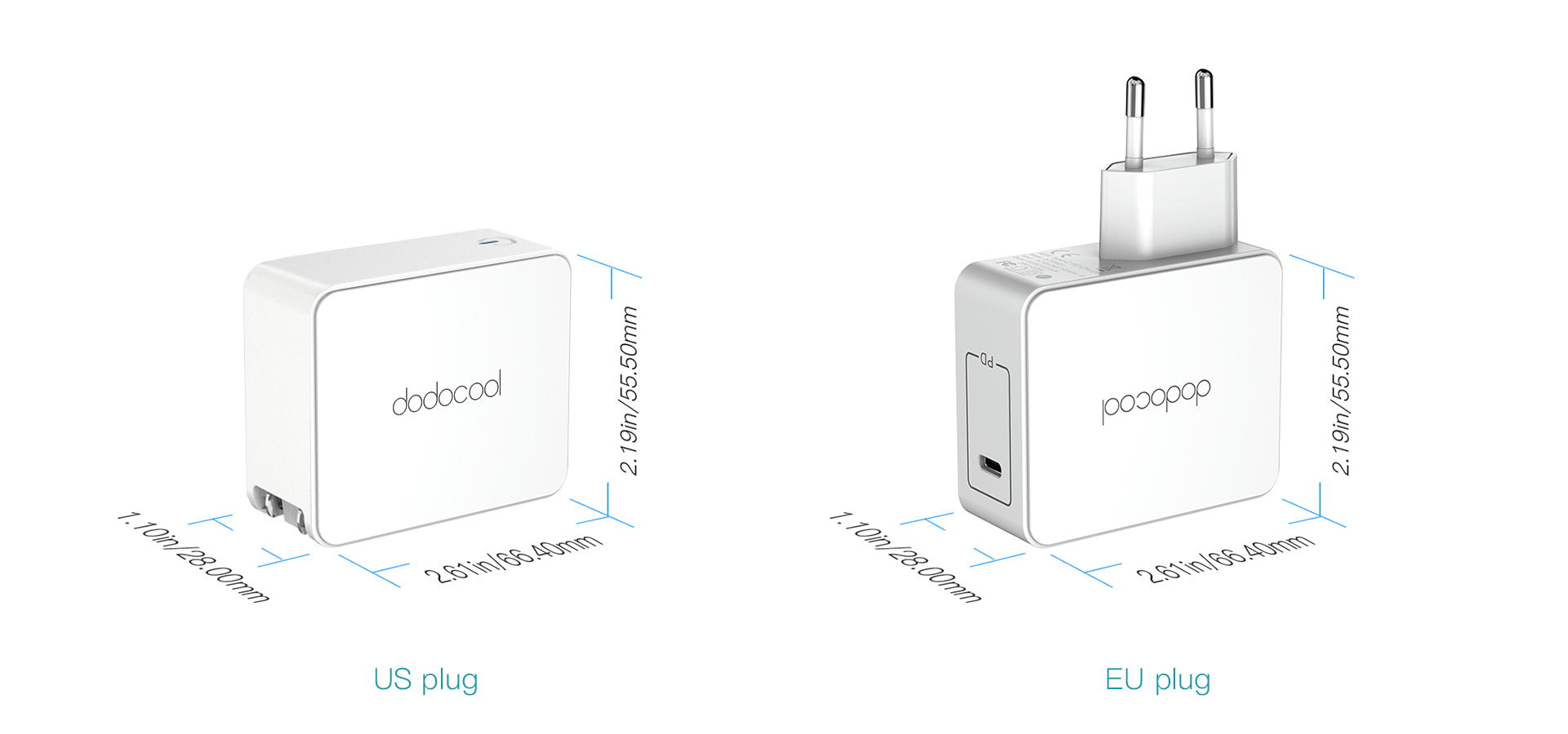 45w Usb Type C Wall Charger Power Adapter Dodocool