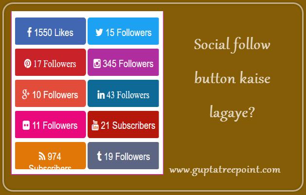 Social follow button kaise add kare