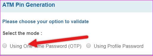 select option for otp