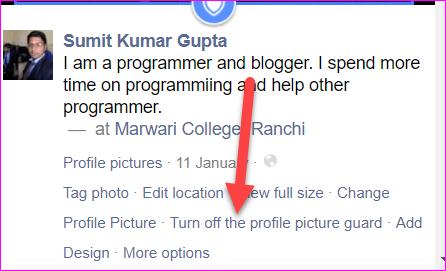 turn off profile picture guard