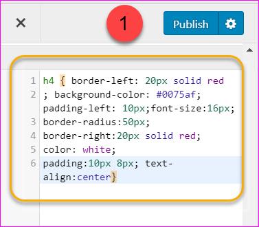 Adding CSS code in WordPress