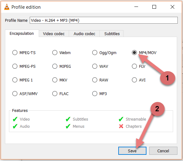 Select Video Format