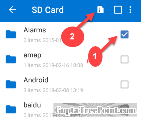Select Folder which you want to create ZIP File