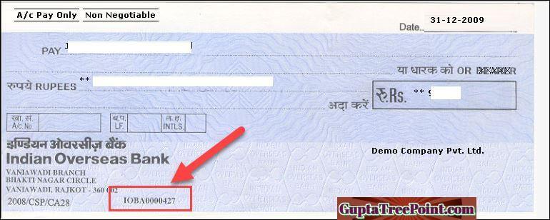 Indian Overseas Bank Check Book