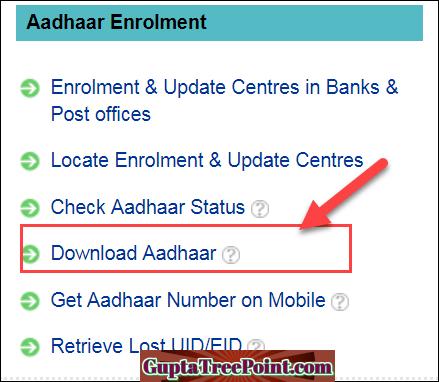 Download Aadhaar link