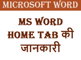 MS Word Home tab