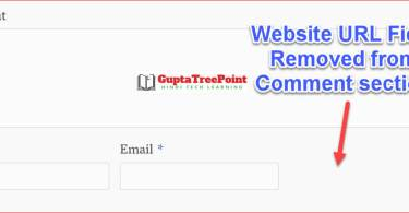 Remove url field from Wordpress comment section