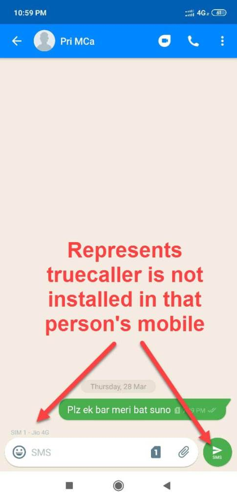 truecaller not installed in that person mobile