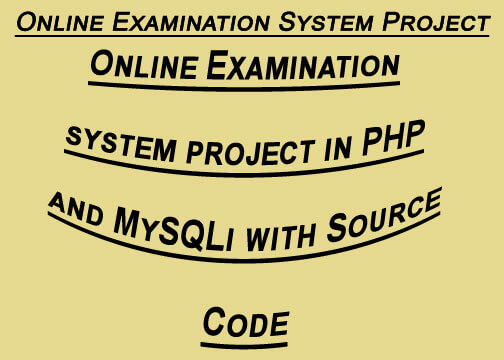 Online examination system project in PHP with Source code
