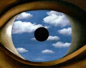 el falso espejo Magritte