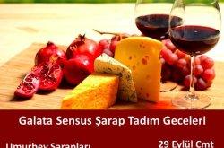 Galata Sensus şarap butiğinde Umurbey şarapları tadımı