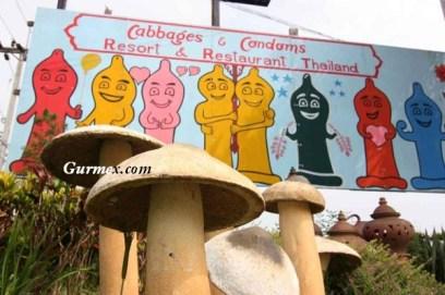Tayland'daki bir restoranın işletmecisi dekor olarak 'prezervatif' teması kullanmış.
