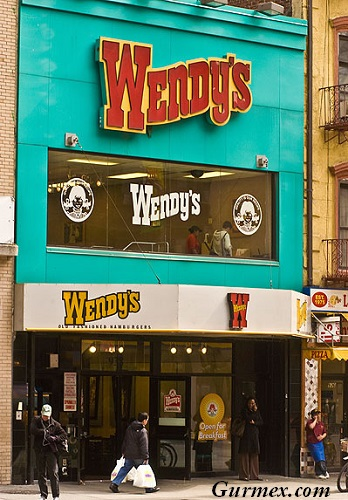 Wendy's restaurant, Manhattan, New York City, USA New York City, NYC, NY, New York, Big Apple, Manhattan, US, Unites States, America, North America, Architecture, building, famous, touristic, destination, landmark, structure, Gotham, Gotham City, USA, global
